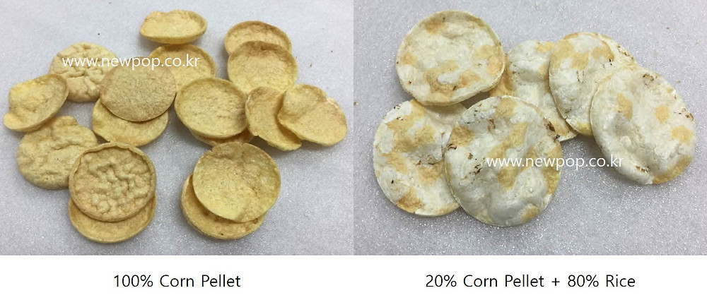 popped corn chips made by pellet