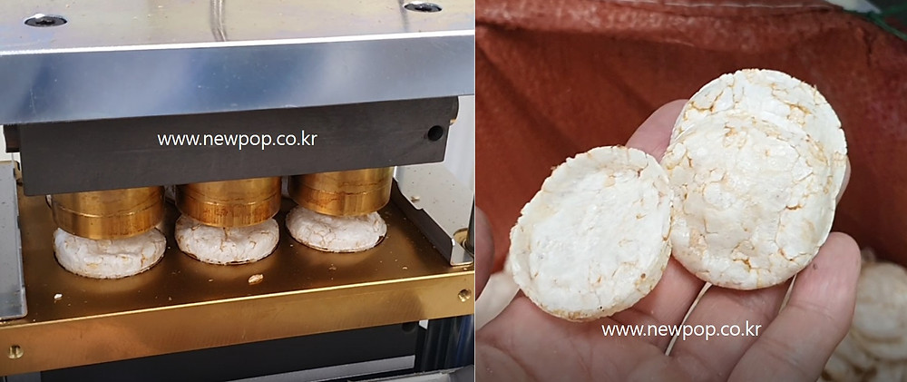 Test of SYP4506 popped chip machine by Indian flint corn 2-4mm