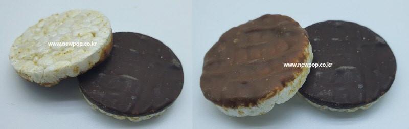 Chocolate coated rice cake