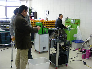 Buyer test rice cake machine