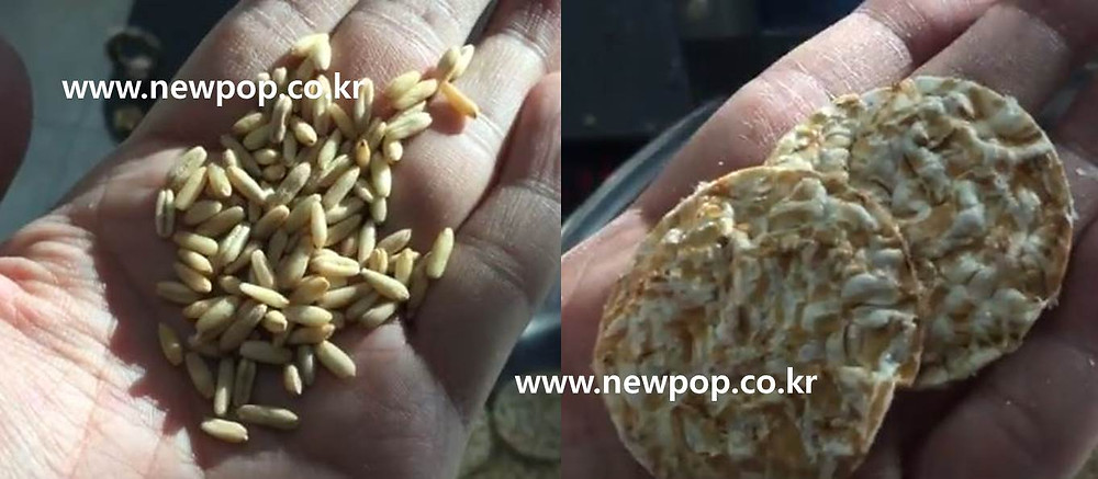 Oat popping machine