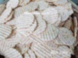 ridged rice cakes