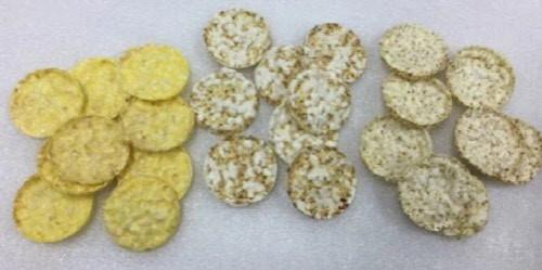 Arroz + Sorgo, Mijo, Quinoa por tortitas de arroz máquina