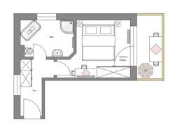 Schnitt Zimmer 3