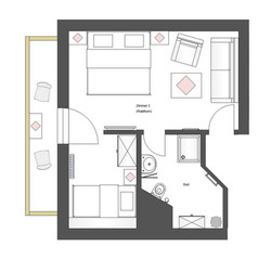 Schnitt Zimmer 2