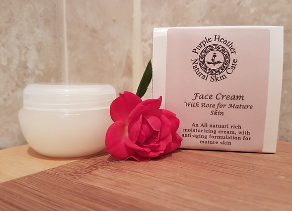 Rose Face Cream for Mature Skin