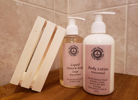 Liquid Soap and All Natural Body Lotion Gift Set