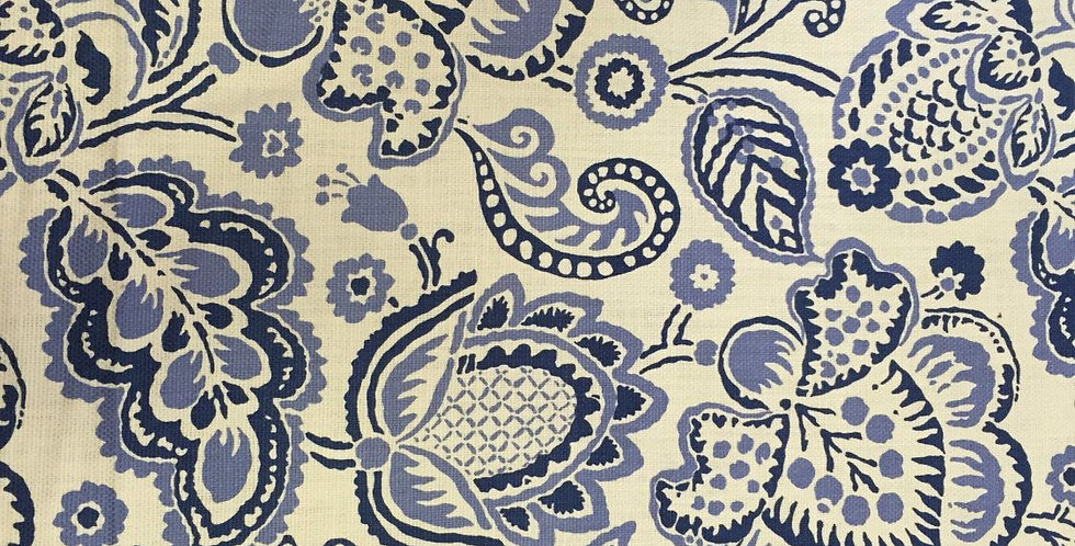 Periwinkle and Navy Blue Floral