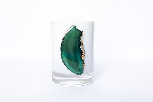 Emerald Agate Candle