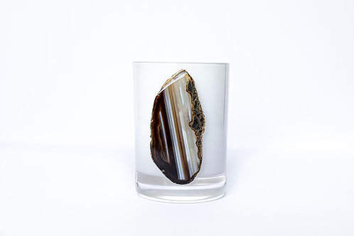 Amber Agate Candle
