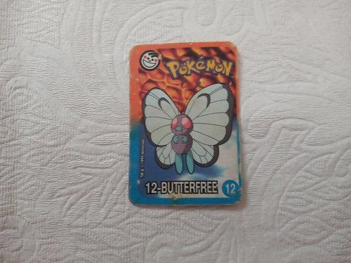 Cartinha Pokémon - Butterfree - Elma Chips - Número 12