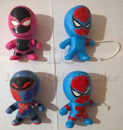 Lote com 4 Brindes do McDonalds - Spiderman
