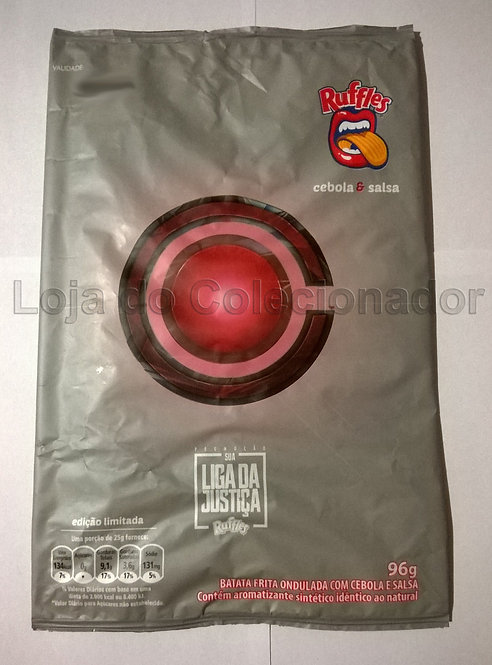 Embalagem Vazia - Batata Ruffles - Cyborg - Liga da Justiça - Coleção