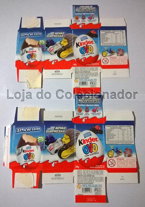 2 Embalagens de Kinder Ovo de 2015 - Vazias