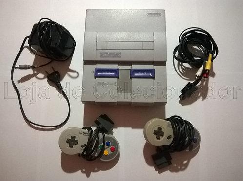 Videogame Super Nintendo Completo com 1 Controle Original do Famicom