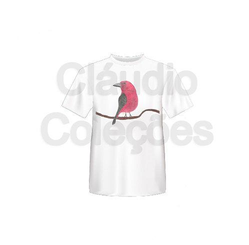 Camiseta - Pássaro - Desenho a Mão-livre - Tamanho GG
