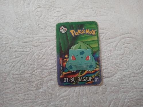 Cartinha Pokémon - Bulbasaur - Elma Chips - Número 1