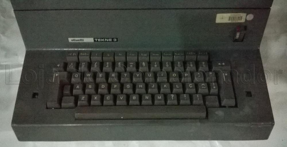 Loja do Colecionador - Máquina de Escrever Elétrica Olivetti Tekne 3