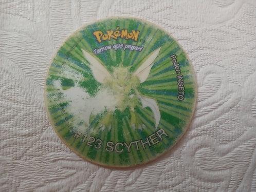 Tazo Scyther - Pokémon - Número 27