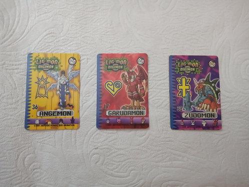 Lote com 3 cards Ligmon