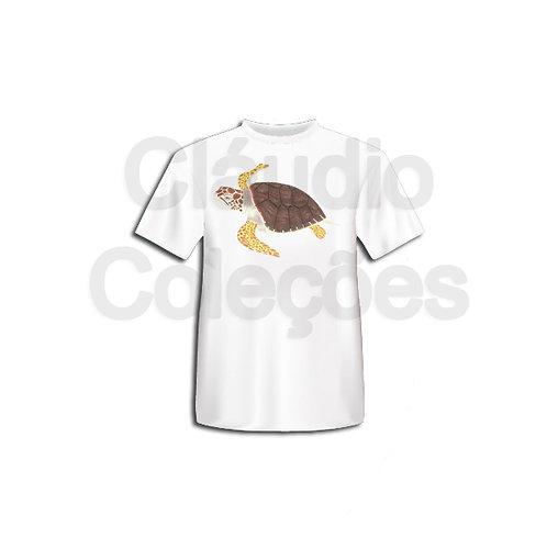 Camiseta - Tartaruga Cabeçuda - Desenho a Mão-livre - Tamanho P