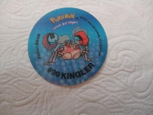 Tazo Kingler - Evolutazo - Pokémon - Número 64
