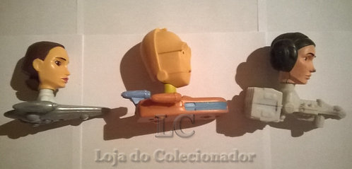 Lote com 3 Naves Star Wars - Brindes do McDonalds
