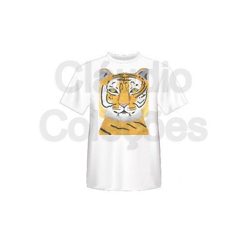 Camiseta - Tigre - Desenho a Mão-livre - Tamanho M