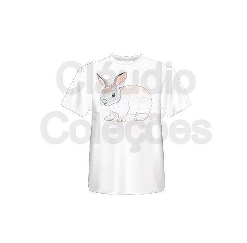 Camiseta - Coelho - Desenho a Mão-livre - Tamanho M