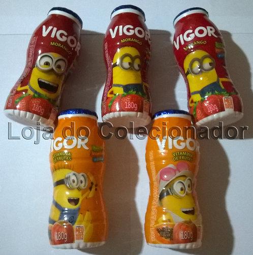 Embalagens Minions 3 Vigor - (5 Potes) - Vazios - Coleção