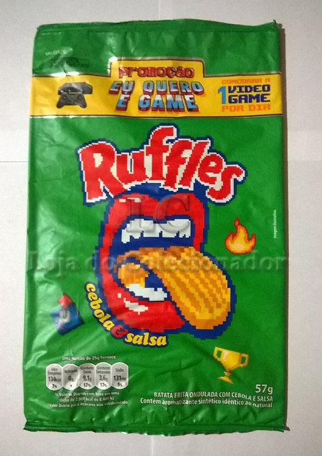 Embalagem Ruffles Promocional - Eu Quero é Game - Vazia