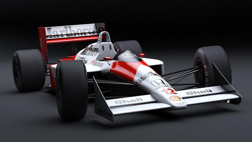 Carro de fórmula 1 antigo
