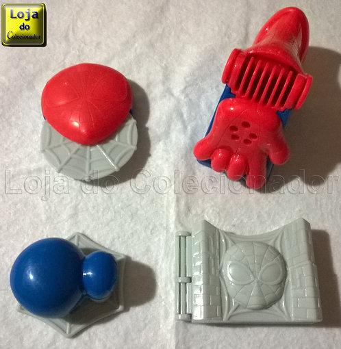 Lote com 4 Brinquedos do Homem Aranha - Massinha