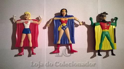 Lote com 3 Heróis - brindes do McDonalds