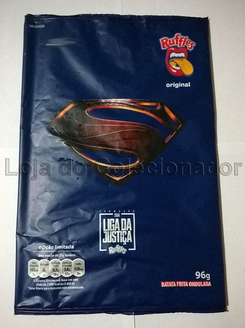Embalagem Vazia - Batata Ruffles - Superman - Liga da Justiça - Coleção