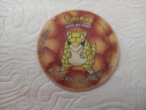 Tazo Sandshrew - Pokémon - Número 4