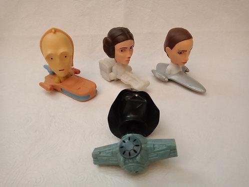 Lote com 3 carrinhos Star Wars e boneco Darth Vader - McDonalds