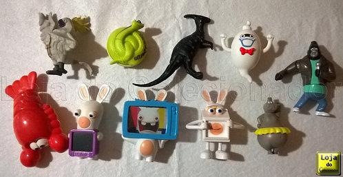 Lote com 10 Brinquedos Antigos