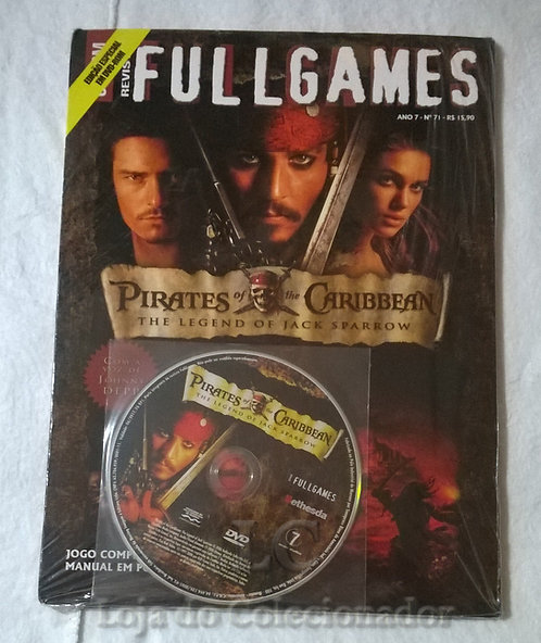Revista Full Games com Jogo do Piratas do Caribe (CD)