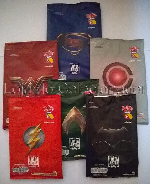 Embalagens Vazias - Coleção Liga da Justiça - Elma Chips - Completa