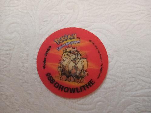 Tazo Growlithe - Pokémon  Número 53