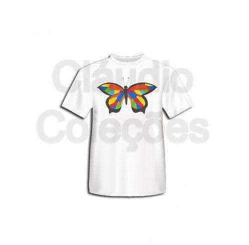 Camiseta - Borboleta - Desenho a Mão-livre - Tamanho G