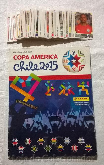 Álbum Copa América 2015 com algumas figurinhas + lote com mais de 170 figurinhas