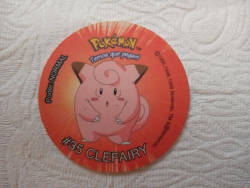 Tazo Clefairy- Pokémon - Número 6