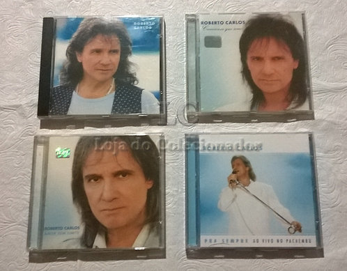 Lote com 4 CDs originais do Roberto Carlos
