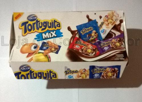 Embalagem Vazia - Caixa de Chocolate Tortuguita Mix - Arcor - Coleção
