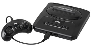Videogame Mega Drive com 22 Jogos na Memória