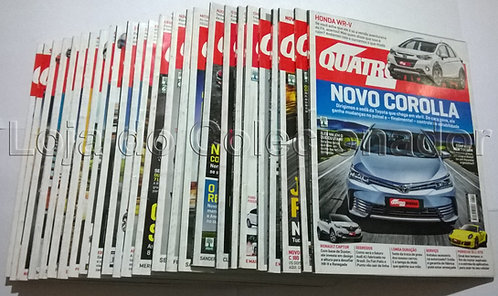 Lote com 26 Revistas Quatro Rodas (2014/2015/2016/2017)