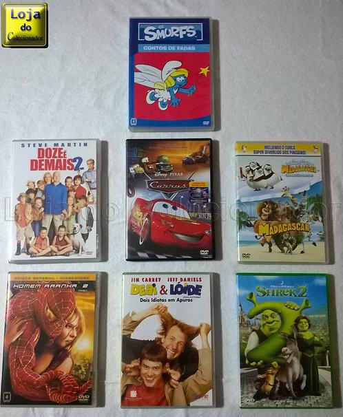 Lote com 7 DVDs Originais (Filmes e Desenhos)