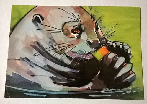 Cartão Antigo - Seja Amigo dos Bichos